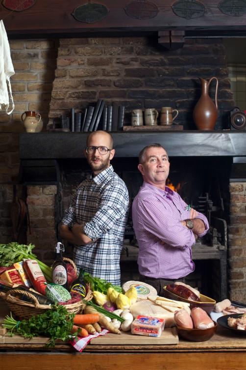 André Blondel et son fils Benjamin Restaurant La taverne de Bruegel