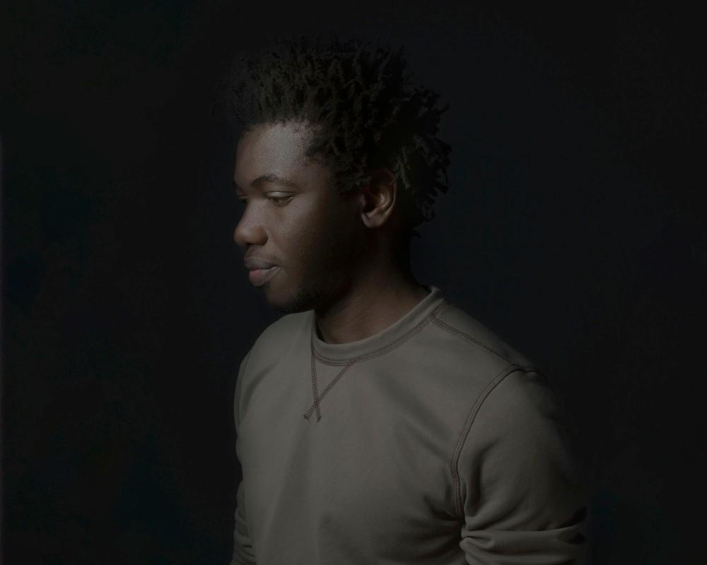 Portrait d Eli, artiste peintre Togolais